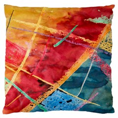 Painting Watercolor Wax Stains Red Standard Flano Cushion Case (two Sides)