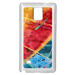 Painting Watercolor Wax Stains Red Samsung Galaxy Note 4 Case (white)