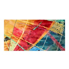 Painting Watercolor Wax Stains Red Satin Wrap