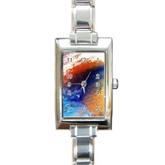 Colorful Pattern Color Course Rectangle Italian Charm Watch