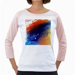 Colorful Pattern Color Course Girly Raglans