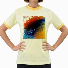 Colorful Pattern Color Course Women s Fitted Ringer T Shirts