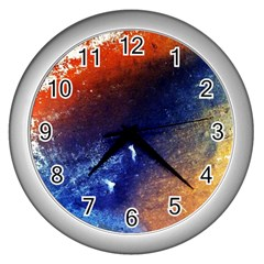 Colorful Pattern Color Course Wall Clocks (silver)