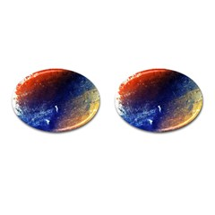 Colorful Pattern Color Course Cufflinks (oval)