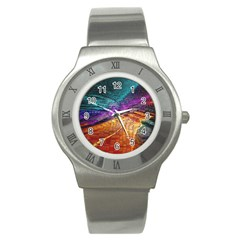 Graphics Imagination The Background Stainless Steel Watch