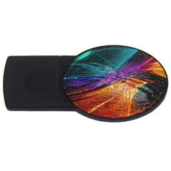 Graphics Imagination The Background Usb Flash Drive Oval (4 Gb)