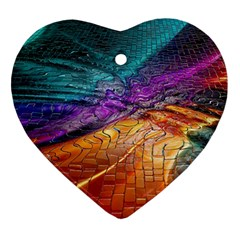 Graphics Imagination The Background Heart Ornament (two Sides)