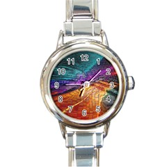 Graphics Imagination The Background Round Italian Charm Watch