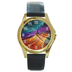 Graphics Imagination The Background Round Gold Metal Watch
