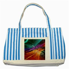 Graphics Imagination The Background Striped Blue Tote Bag