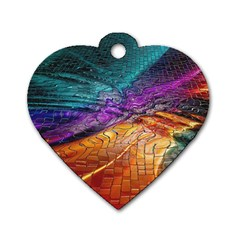 Graphics Imagination The Background Dog Tag Heart (one Side)