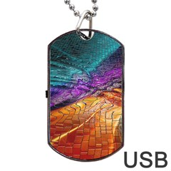 Graphics Imagination The Background Dog Tag Usb Flash (two Sides)