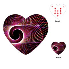 Grid Bent Vibration Ease Bend Playing Cards (heart)