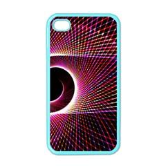 Grid Bent Vibration Ease Bend Apple Iphone 4 Case (color)