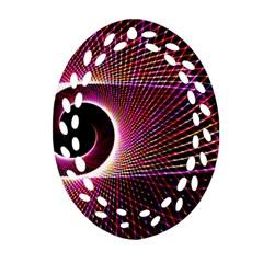 Grid Bent Vibration Ease Bend Ornament (oval Filigree)