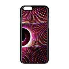Grid Bent Vibration Ease Bend Apple Iphone 6/6s Black Enamel Case