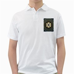 Stained Glass Colorful Glass Golf Shirts
