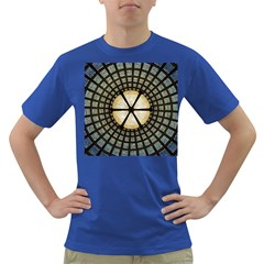Stained Glass Colorful Glass Dark T Shirt