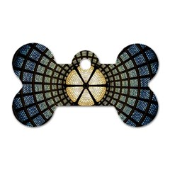 Stained Glass Colorful Glass Dog Tag Bone (one Side)