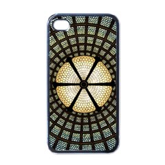 Stained Glass Colorful Glass Apple Iphone 4 Case (black)