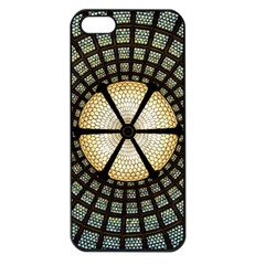 Stained Glass Colorful Glass Apple Iphone 5 Seamless Case (black)
