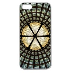 Stained Glass Colorful Glass Apple Seamless Iphone 5 Case (clear)