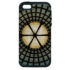 Stained Glass Colorful Glass Apple Iphone 5 Hardshell Case (pc+silicone)