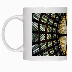 Stained Glass Colorful Glass White Mugs