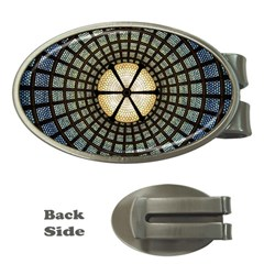 Stained Glass Colorful Glass Money Clips (oval)