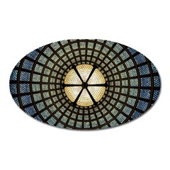 Stained Glass Colorful Glass Oval Magnet