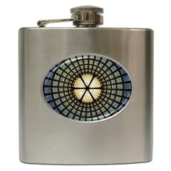 Stained Glass Colorful Glass Hip Flask (6 Oz)