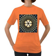 Stained Glass Colorful Glass Women s Dark T Shirt