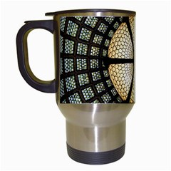 Stained Glass Colorful Glass Travel Mugs (white)