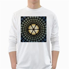 Stained Glass Colorful Glass White Long Sleeve T Shirts