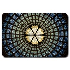 Stained Glass Colorful Glass Large Doormat