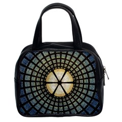 Stained Glass Colorful Glass Classic Handbags (2 Sides)