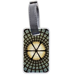 Stained Glass Colorful Glass Luggage Tags (one Side)