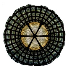 Stained Glass Colorful Glass Large 18  Premium Round Cushions