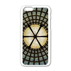 Stained Glass Colorful Glass Apple Iphone 6/6s White Enamel Case