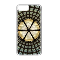 Stained Glass Colorful Glass Apple Iphone 7 Plus Seamless Case (white)