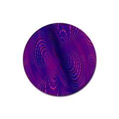 Abstract Fantastic Fractal Gradient Rubber Round Coaster (4 Pack)