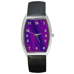 Abstract Fantastic Fractal Gradient Barrel Style Metal Watch