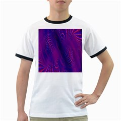 Abstract Fantastic Fractal Gradient Ringer T Shirts