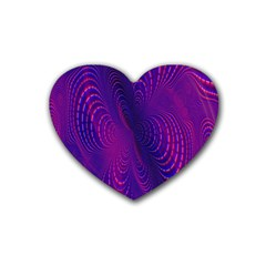 Abstract Fantastic Fractal Gradient Rubber Coaster (heart)