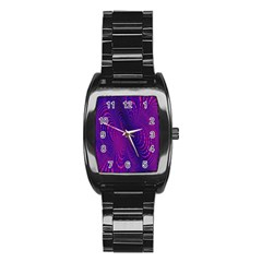 Abstract Fantastic Fractal Gradient Stainless Steel Barrel Watch