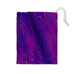 Abstract Fantastic Fractal Gradient Drawstring Pouches (large)
