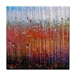 Glass Colorful Abstract Background Tile Coasters