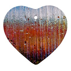 Glass Colorful Abstract Background Ornament (heart)