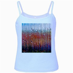 Glass Colorful Abstract Background Baby Blue Spaghetti Tank
