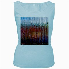 Glass Colorful Abstract Background Women s Baby Blue Tank Top